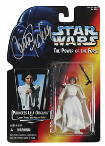 Carrie Fisher Star Wars Signed Princess Leia Organa Action Figure BAS #AA03817