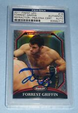 Forrest Griffin Signed UFC 2011 Topps Finest Refractor Card #16 PSA/DNA COA Auto