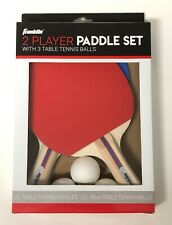 Franklin 2 Player Table Tennis Paddle Set with 3 40mm Ping Pong Balls NEW