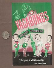 VINTAGE POSTCARD UNUSED THE VAGABONDS SUPPER CLUB MIAMI FLORIDA
