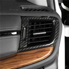 Carbon fiber look interior Side A/C Vent cover trim for 2017-18 Honda CRV