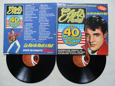 "2 LP ELVIS PRESLEY ""Les 40 plus grands succès"" K TEL INTERNATIONAL EP 001 FR §"