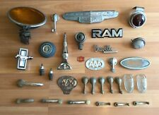 OLD VTG ANTIQUE CAR PART DOOR HANDLE CHEVY AAA MUSTANG EMBLEM AC TITAN LOT OF 32