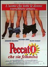 PECCATO SIA FEMMINA Manifesto 2F Poster Originale Cinema MIGUEL BOSE' ABRIL