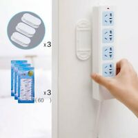 Self Adhesive Multifunction Rack Socket Holder Wire Cable Organizer Wall Mounted