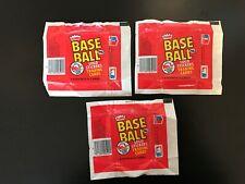 3 - 1982 Fleer Baseball Wrappers