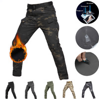 Mens Army Combat Trousers Fleece Softshell Cargo Pants Camouflage Casual Outdoor