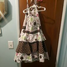 New listing Wellesley Manor Mother & Daughter Matching Aprons pink, brown, white and green p