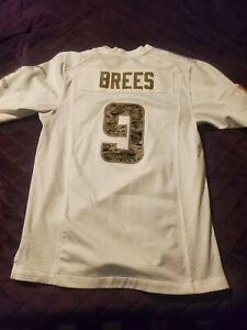 Drew Brees Nike Jersey White Salute The Service  Size Small New Orleans Saints