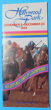 November 27, 1982 HOLLYWOOD PARK Program - HOLLYWOOD PREVUE STAKES - DESERT WINE