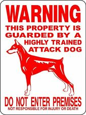 Property protected by Greyhound dog with attitude metal aluminum sign