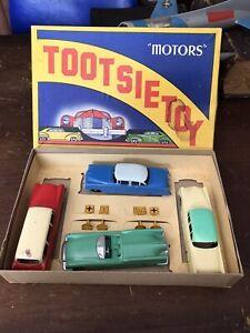 Early TootsieToys DieCast Metal TOOTSIETOY MOTORS SET 40's No. 7250 W/ Box