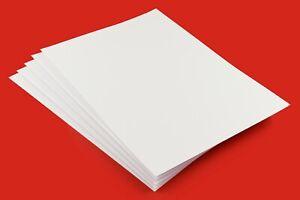 A2-A3-A4-A5-A6 Thick 450gsm - 500gsm Premium Smooth White Craft Card-Card Making