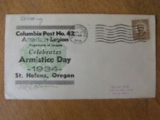 St. Helens Oregon, Armistice Day American Legion, Columbia Post 42  Signed 1934