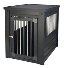 Dog Crate End Table Pet EcoFlex House Furniture With Cushion Espresso Medium