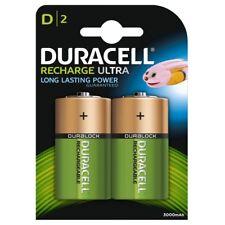 2 x DURACELL D dimensione 2200 mAh batterie ricaricabili NiMH LR20 HR20 DC1300