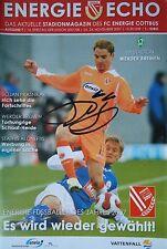 Programm 2007/08 FC Energie Cottbus - Werder Bremen (Autogramm Ervin Skela)