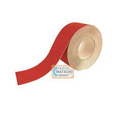 75mm x 20m Rojo Antideslizante cinta adhesiva muy adherente Trasera Seguridad