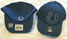 INDIANAPOLIS COLTS PRO SHAPE XL LOGO BLUE FLEX FIT SIZE S/M NFL CAP/HAT REEBOK