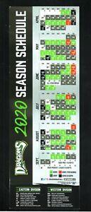 Dayton Dragons--2020 Large Vinyl Schedule--Reds Affiliate
