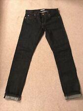 Unbranded Brand UB401 Tight Selvedge Denim Jeans Raw Rigid Japanese 33 X 34