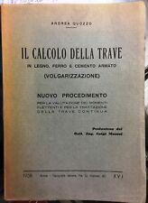 (Ingegneria) IL CALCOLO DELLA TRAVE IN LEGNO, FERRO E CEMENTO ARMATO