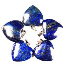 5pcs Lapis Lazuli Heart Pendant Bead 22x20x6mm YJ30SK
