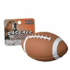 "COASTAL PET RASCALS 4"" VINYL FOOTBALL DOG TOY SQUEAKER. FREE SHIPPING IN THE USA"