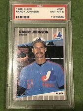 1989 Fleer Randy Johnson Marlboro Rookie RC #381 PSA 8 NM-MT Mint Expos