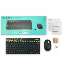 Logitech MK240 Nano Wireless Keyboard & Mouse Combo For Laptop Home Office G2B5