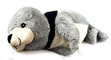 Seehund Robbe 60cm Grau FLAPSCH Plüschtier mit Halstuch MOIN MOIN