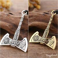 Viking Axe Valknut Necklace Pendant Vegvisir Odin Norse