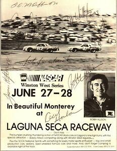 1980's NASCAR original hand signed autographed Laguna Seca booklet
