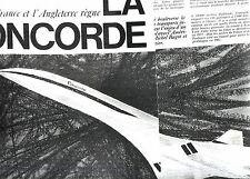 PUBLICITE ADVERTISING 034 1964 CONCORDE avion entre France et Angleterre  5 pag