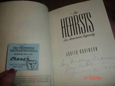 """SIGNED """"HEARSTS"""" CALIFORNIA HISTORY JUDITH ROBINSON"""