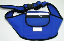 BLUE neoprene CD jogging belt MP3 pocket sport case 4 iPod iPhone cell