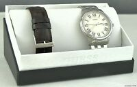 NWT Unisex Men Watch GUESS Stainless Steel Leather New U0384G1