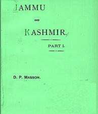 INDIA. Jammu and Kashmir Parts 1 & 2 by Masson, David Parkas