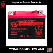 Neptune/Outdo YTX4L-BS 12V 4AH GEL BATTERY FOR SNAPPER WALK BEHIND LAWN MOWER
