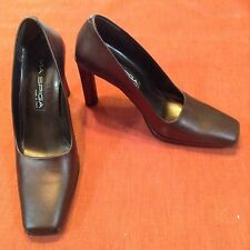 Via Spiga Brown Bronze Metallic Copper Leather Pumps Heels shoes Made in Italy 6
