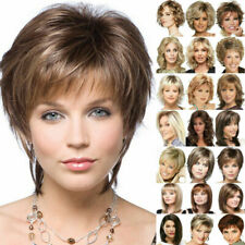 Womens Ladies Natural Short Straight Hair Wigs Bob Long Curly Cosplay Full Wig