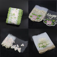 2-3 Yds Flower Embroidered Mesh Lace Trim Bridal Ribbon Dress Sewing Decor Craft