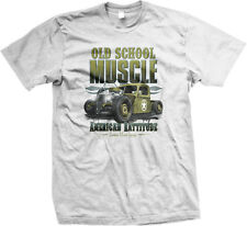 Old School Muscle American Rattitude Pickup Custom Metal Garage Of Men's T-Shirt