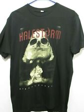 HALESTORM APOCALYPTIC BLACK SKULL GRAPHIC ADULT T-SHIRT SIZE SMALL