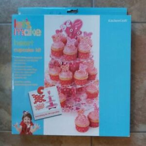 BRAND NEW Heart Cupcake Stand and Cake Topper Kit