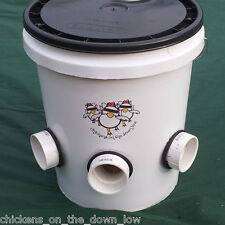 Automatic Chicken Feeder -  Poop-Free - 5 gallon - Ideal for Backyard Chickens