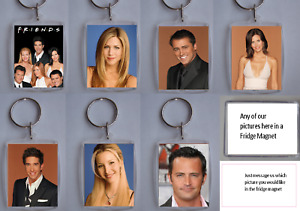 Friends TV Series, Photo Keyring / bag tag, clear plastic,