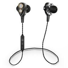 Dual Dynamic Driver Super Bass  Wireless Headphone Headset Bluetooth Earphone AN