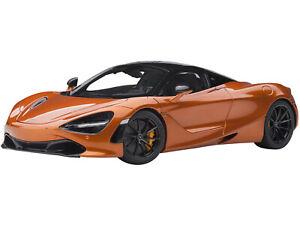 MCLAREN 720S AZORES ORANGE MET. WITH BLACK TOP 1/18 MODEL CAR BY AUTOART 76074
