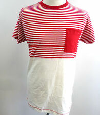 French Connection Men's East T-Shirt Post Red/White Size M rrp £24.99 BOX72 03 O